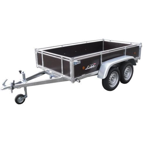 Remorque Lider 39450 - ridelles bois (750 Kg)